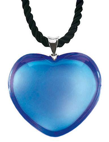 Baccarat Glamour Heart Pendant, Sapphire