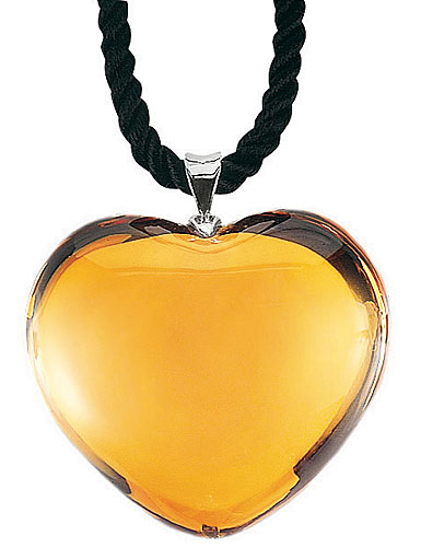 Baccarat Glamour Heart Pendant Sterling Silver Link Topaz