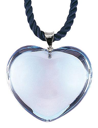 Baccarat Glamour Pendant, Sterling Silver Bale, Aqua Heart