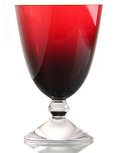 Baccarat Vega Water Glass, Ruby