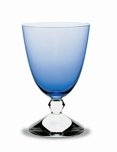 Baccarat Crystal, Vega Water Sapphire Blue Glass, Single