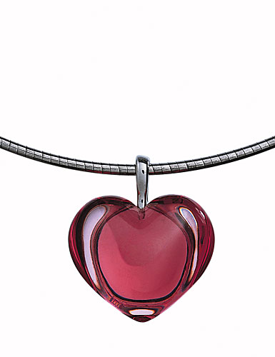 Baccarat Baby Coeur Necklace, Tourmaline Heart 3/4in