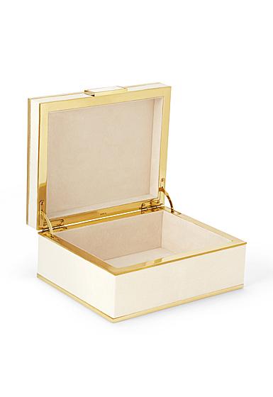 Aerin Classic Shagreen Small Jewelry Box, Cream