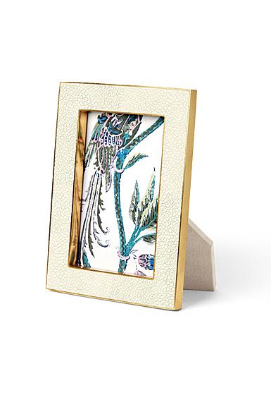 "Aerin Classic Shagreen Frame, Cream 4x6"""