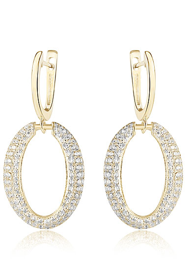 Cashs Ireland Gold Cocktail Pierced Earrings, Pair