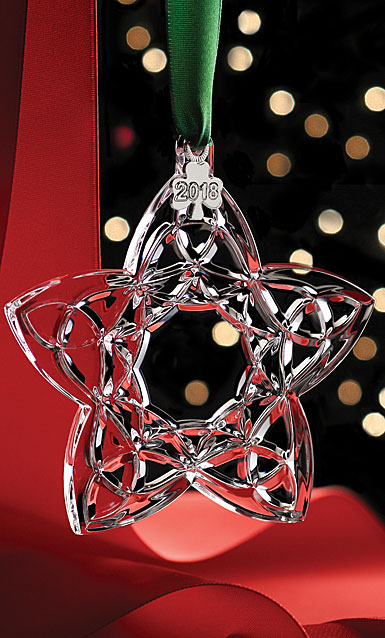 Cashs Ireland, Celtic Trinity Star 2018 Crystal Ornament