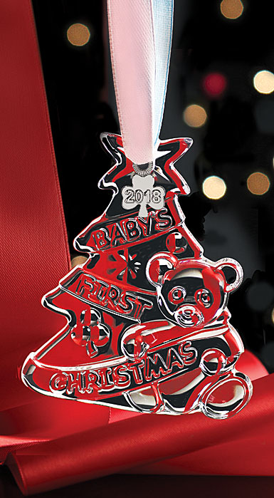 Cashs Ireland, Baby's First Christmas 2019 Crystal Ornament