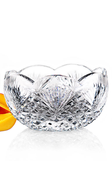 "Cashs Ireland, Art Collection Annestown 7"" Scalloped Crystal Bowl"