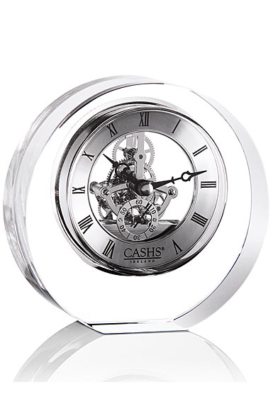 Cashs Ireland, Round Crystal Desk Clock