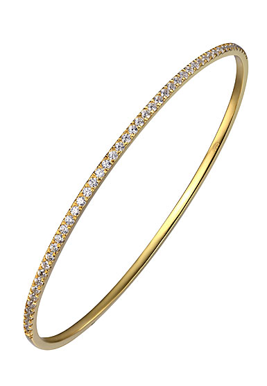 Cashs Ireland, Bond 18k Gold and Crystal Bangle Bracelet