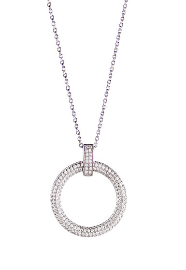 Cashs Ireland, Clarice Sterling Silver Pave Pendant Necklace