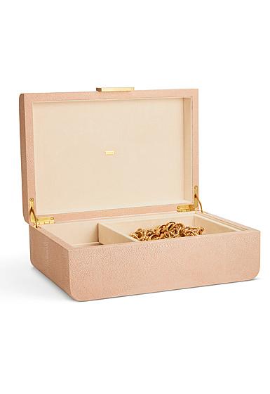 Aerin Modern Shagreen Large Jewelry Box, Blush