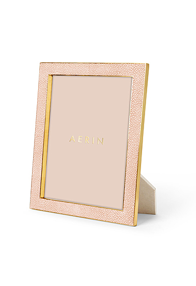 "Aerin Classic Shagreen Frame, Blush 8x10"""