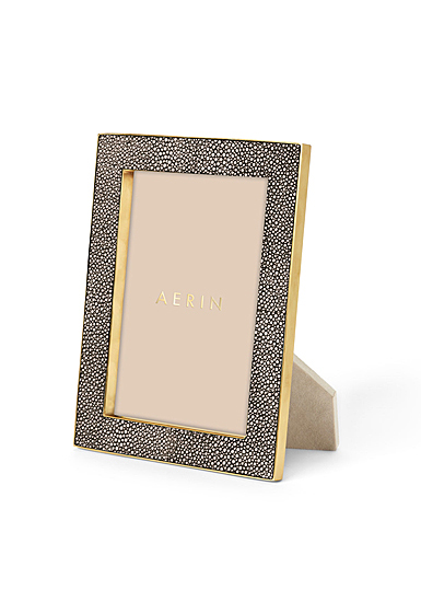 "Aerin Classic Shagreen Frame, Chocolate 5x7"""