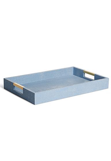 Aerin Modern Shagreen Desk Tray, Blue
