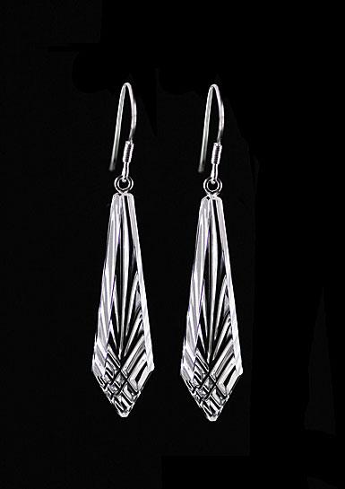 Cashs Ireland, Crystal Annestown Icicle Sterling Drop Earrings, Pair