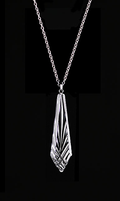Cashs Ireland, Crystal Annestown Icicle Sterling Silver Pendant Necklace