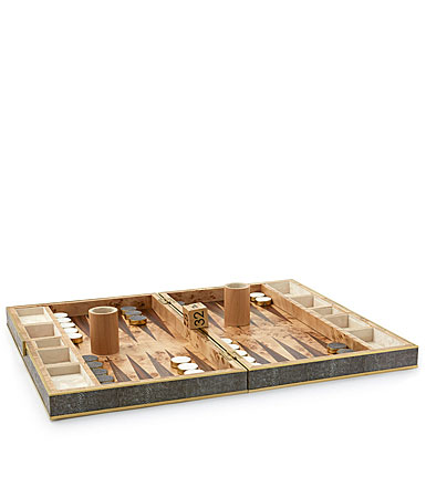 Aerin Shagreen Backgammon Set, Chocolate