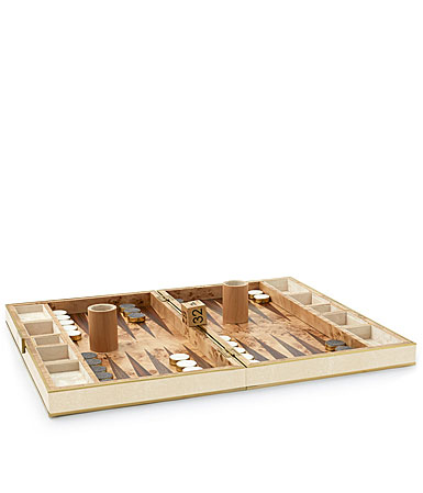 Aerin Shagreen Backgammon Set, Cream