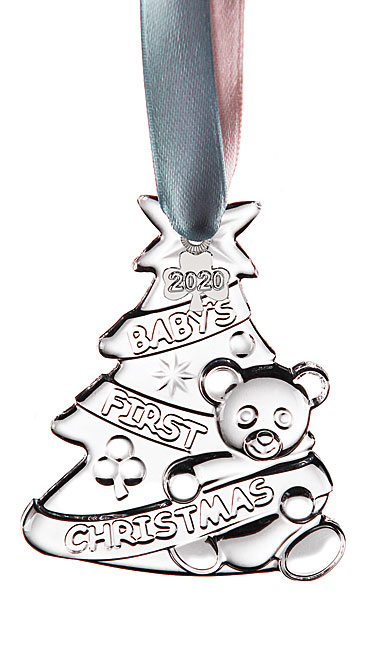Cashs Ireland, Baby's First Christmas 2020 Crystal Ornament