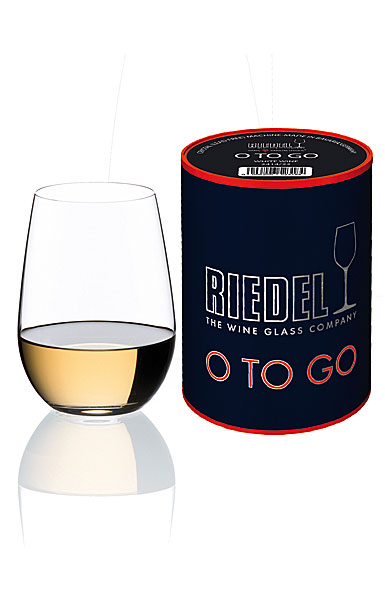 Riedel O Stemless, O to Go White Wine Crystal Glass, Single