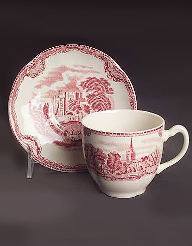 Wedgwood Johnson Brothers Old Britain Castles Pink 20 Piece Set