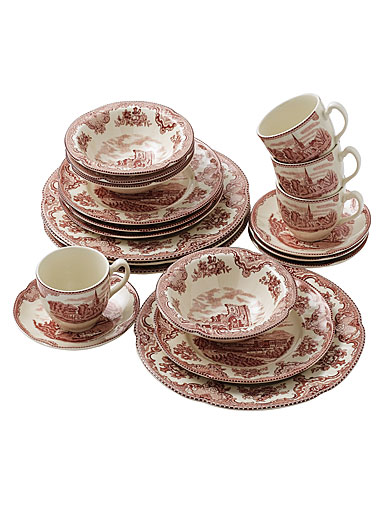 Johnson Brothers Old Britain Castles Pink, 20 Piece Set