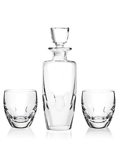 Steuben Verve Whiskey Decanter and 2 DOF Set