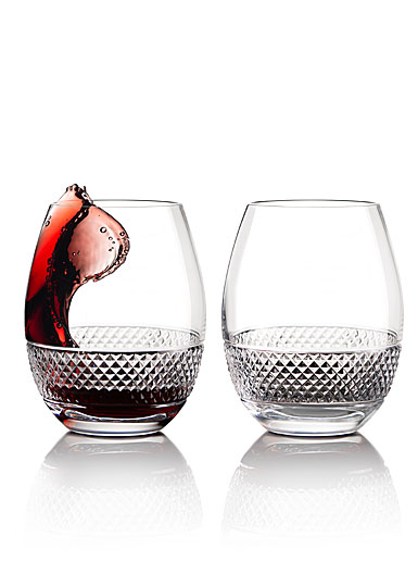 Cashs Ireland, Cooper Stemless Red Wine Glasses, 1+1 Free