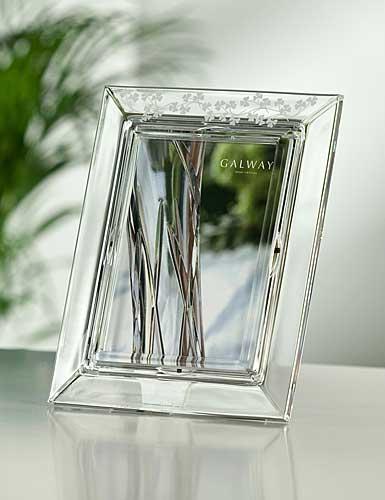 "Galway Crystal Shamrock 5x7"" Photo Frame"