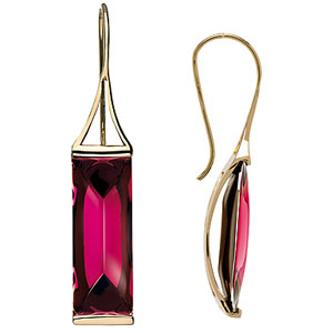 Baccarat Crystal Somnight Earrings, 18Kt Gold , Pink Mordore