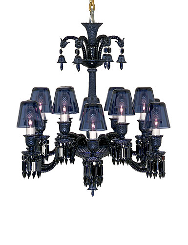 Baccarat Zenith Midnight Chandelier, 12 Light