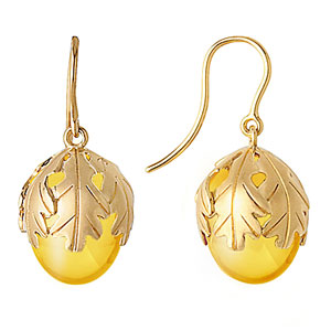 Baccarat Murmure Wire Earrings, Yellow Crystal