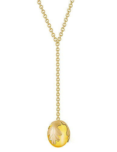 Baccarat Crystal Murmure Small Necklace, Yellow