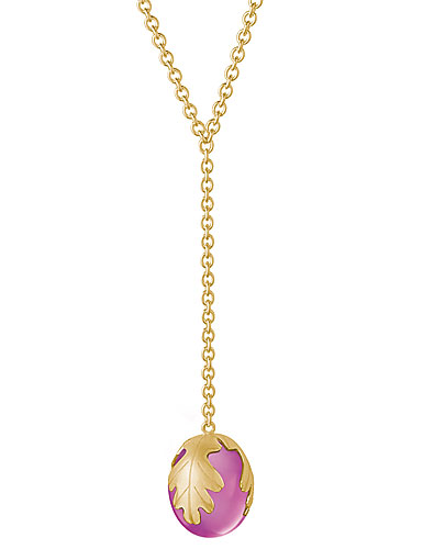 Baccarat Murmure Small Necklace, Peony Crystal