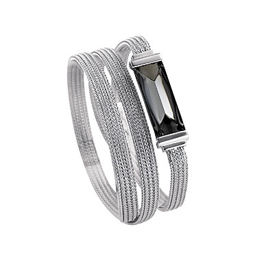 Baccarat So Insomnight Double Bracelet, Silver Mordore