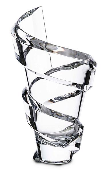 """Baccarat Crystal, Spirale 8"""" Crystal Vase"""