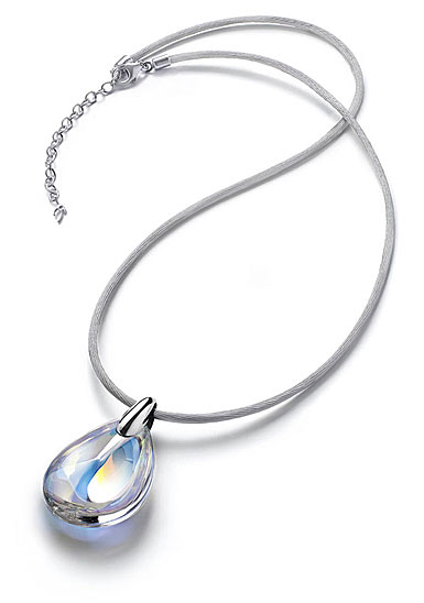 Baccarat Psydelic Small Pendant Necklace, Mirrored Clear Crystal