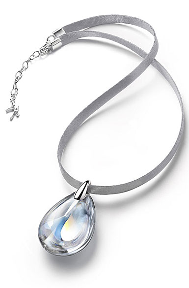 Baccarat Crystal Psydelic Medium Pendant Necklace, Mirrored Clear
