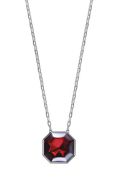 Baccarat LIllustre Medium Pendant Necklace, Mirrored Red Crystal