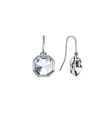 Baccarat LIllustre Wire Pierced Earrings, Mirrored Clear Crystal