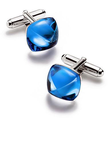 Baccarat Crystal Medicis Sterling Silver Riviera Cufflinks, Pair