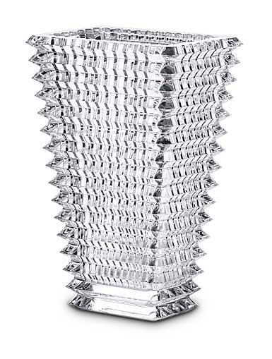 "Baccarat Crystal, Eye 11 3/4"" Rectangular Vase, Clear"