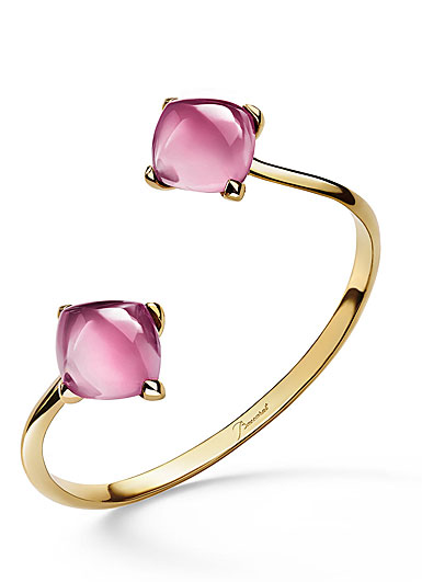 Baccarat Crystal Medicis You and Me Bracelet, Pink and Gold Vermeil