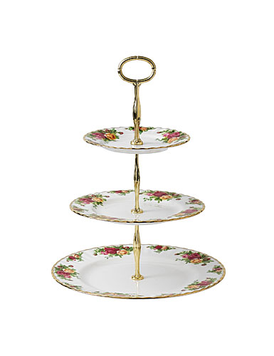 Royal Albert China Old Country Roses Three Tiered Cake Stand