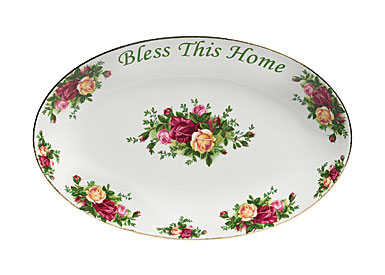 Royal Albert Old Country Roses Bless This Home Platter