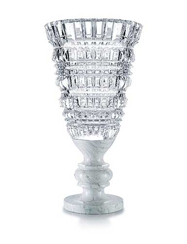 "Baccarat Crystal, New Antique White Crystal 26 3/4"" Vase, Limited Edition"