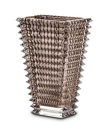Baccarat Crystal, Eye Rectangular Large Crystal Vase, Mist