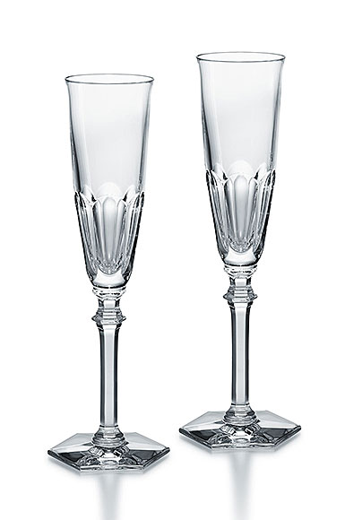 Baccarat Crystal, Harcourt Eve Champagne Toasting Crystal Flute, Pair