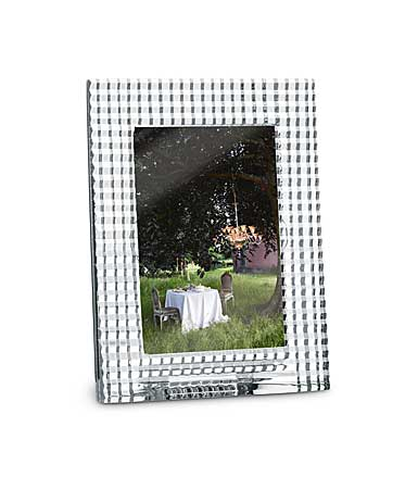 "Baccarat Crystal, Eye 4x6"" Picture Frame, Clear"